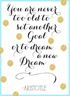 Setting new goals for 2017. It's time!