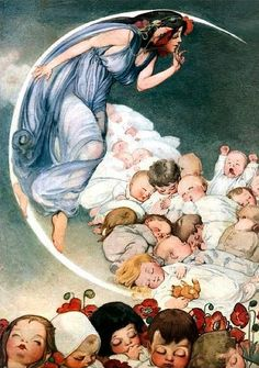 A Garden of Babies- by Fanny Cory (American, 1877-1972)