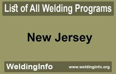 Find all Welding Programs in New Jersey, the United States. Welding Programs, New Jersey, Programming, United States, The Unit, Computer Programming, Coding