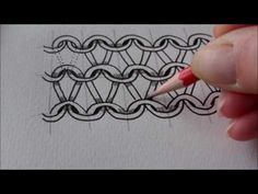 How to draw tanglepattern Knyt and Nitruly - YouTube