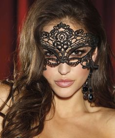 Shirley of Hollywood Embroidered Venetian Mask £14.99  Super alluring embroidered Venetian style mask, ties at the back. #masquerade #sexymask #shirleyofhollywood