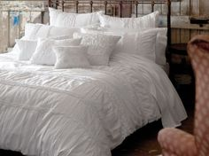 Polly White Soft and Elegant Quilt Cover Set by Kas from Linen Room – Order yours online now! Quilt Bedding, Linen Bedding, Bed Linen, Bed Quilts, Quilt Cover Sets, Quilt Sets, Master Bedroom, Bedroom Decor, Interiors Magazine