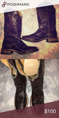 d6c268879270 Boulet Hand Tooled Leather Boots New never worn still in plastic Boulet  Shoes Heeled Boots Tooled
