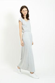 Marie Maxi Dress in Grey Melange