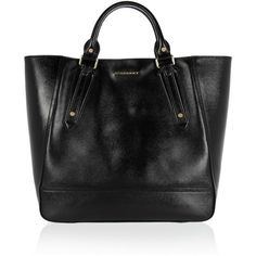 Burberry Shoes & Accessories Patent-leather tote ($1,495) ❤ liked on Polyvore