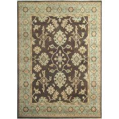 Eastern Weavers Turkish Treasures TT1185 Chocolate Light Blue Persian Rug