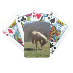 Horse on HIll Bicycle Poker Cards