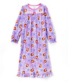 Another great find on  zulily! Purple Sofia the First Nightgown - Girls by  Sofia 624004015