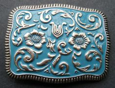 Western Cowboy Cowgirl  Cool Flower Big Belt Buckles