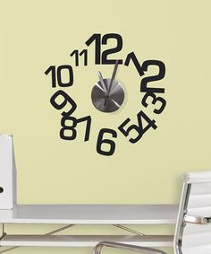 Look at this #zulilyfind! Contemporary Wall Decal Clock #zulilyfinds