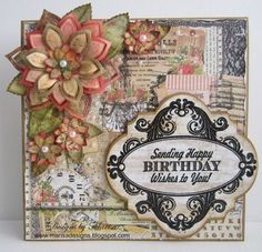 JustRite Papercraft May Release Birthday Vintage Labels Four--Love this shape!