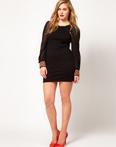 ASOS Curve Dress With Embellished Cuff