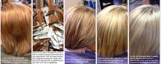 Paul's client wanted a big change from a dramatic red color to high lift blonde.  The transformation occurred over 8 weeks to maintain the integrity of the client's hair and prevent damage.