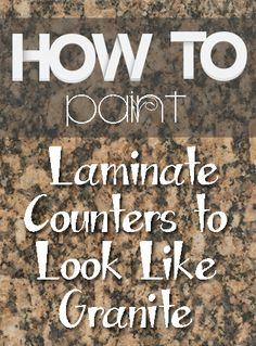 10 Amazing Laminate Countertop Makeovers Tired of your ugly laminate countertops? Looking for a change or a fresh pop of color? Or maybe you want something more natural-looking? Save yourself money and get exactly what you want by DIY-ing… Painting Laminate Countertops, Diy Countertops, Painted Countertops, Painting Formica Countertops, Granite Counters, Kitchen Redo, Kitchen Remodel, Kitchen Ideas, Kitchen Cabinets
