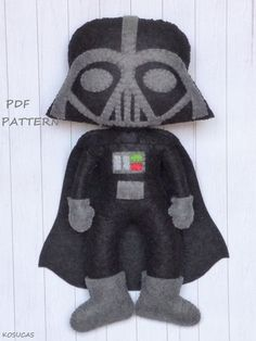 PDF pattern to make a felt Dark Vader. von Kosucas auf Etsy