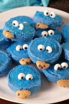 Easy Recipes For A+ Bake Sales Cookie Monster Oreo vertical Bake Sale Treats, Bake Sale Recipes, Bake Sale Cookies, Cookie Recipes For Kids, Cookies For Kids, Oreos, Sin Gluten, Stevia, No Bake Desserts