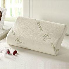 De alta Calidad de Fibra de Bambú Almohada de Espuma de Memoria Lenta recuperación Almohada Almohada de Espuma de Memoria de Cuidado de La Salud Masajeador Almohada Travesseiro