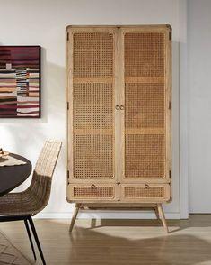 Nalu sideboard 90 x 75 cm Nalu, Small Sideboard, Wood Sideboard, Rattan, Kitchen Buffet, Wardrobe Furniture, Style Rustique, Adjustable Shelving, Storage Spaces