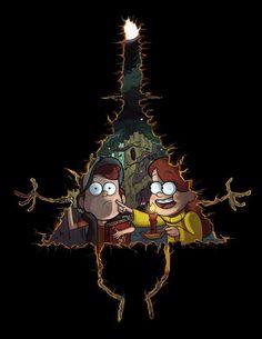 Mabel y Dipper - Gravity Falls Gravity Falls Dipper, Gravity Falls Fan Art, Illuminati, Fall Wallpaper, Iphone Wallpaper, Monster Falls, Desenhos Gravity Falls, Dipper And Mabel, Reverse Falls