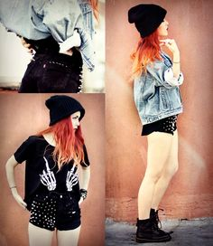 #shorts #outfit #orange #hair
