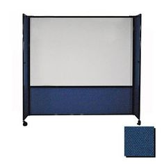 "Versare DivideWrite Mobile Whiteboard Partition Size: 82"" H x 72"" W, Color: Navy Blue"