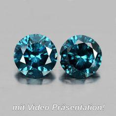 Elegant Pair of round mm Fancy Blue Brillant Cut Diamonds Diamond Stone, Diamond Cuts, Fancy, Colored Diamonds, Natural Gemstones, Artsy, Elegant, Nature, Blue