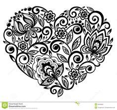 corazón para pirograbado