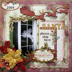 Santa Please Stop Here- ScrapThat Dec kit - Scrapbook.com