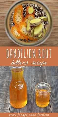 Dandelion Root Bitters Dandelion root bitters is an easy alcohol infusion to make at home. Bitter he Herbal Bitters Recipe, Aperitif Cocktails, Tea Recipes, Cooking Recipes, Dinner Recipes, Breakfast Recipes, Dandelion Recipes, Mead, Puddings