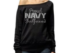 Proud Navy Girlfriend Shirt . Proud Navy by BraveandProud on Etsy