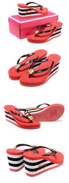 Free shipping 2015 summer 11cm high heels women trifle Rubber flip flops female JC platform wedges slippers girl's beach sandals | #BEACH #HIGHHEELSLIPPERS