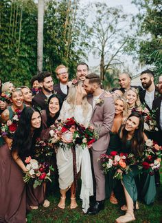Bohemian wedding style with colorful protea wedding bouquets in Orlando, Florida | Ashton Events Protea Wedding, Wedding Bouquets, Wedding Dresses, Brides And Bridesmaids, Bridesmaid Dresses, Bohemian Bridesmaid, Orlando Wedding, Party Looks, Wedding Locations