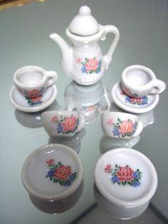 Mini Porcelain Tea Set 10 Pieces - http://teacoffeestore.com/mini-porcelain-tea-set-10-pieces/