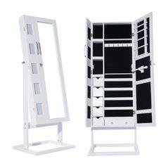 Spiegel Standspiegel znl 149cm schmuckschrank standspiegel weiss spiegel schrank