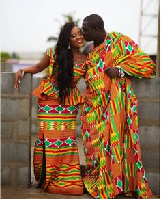 Photo by Akiboat Impressions - traditional Ghanaian wedding attire African Attire, African Wear, African Dress, African Fashion, Ghana Traditional Wedding, Traditional Wedding Dresses, Traditional Outfits, African Wedding Dress, Wedding Dress Styles