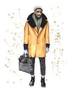 Street style fashion illustration 2014