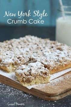 New York Style Crumb Cake - Classic comfort food! This perfect tender crumb cake makes a delicious breakfast or dessert alongside coffee.