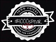 #1000Speak....It's all about compassion folks.