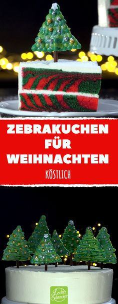 Celebrate Christmas with this gorgeous specimen. That will lay-Feiere Weihnachten mit diesem Prachtexemplar. Zebra cake for Christmas Delicious cake tree - Zebra Cakes, Christmas Time, Xmas, Christmas Ornaments, Holiday, Christmas Cakes, Marzipan, Pumpkin Spice Cupcakes, Cream Cake