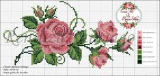 This post was discovered by Pe Cross Stitch Bookmarks, Cross Stitch Rose, Cross Stitch Flowers, Cross Stitch Charts, Cross Stitch Designs, Cross Stitch Patterns, Crochet Cross, Filet Crochet, Cross Stitching