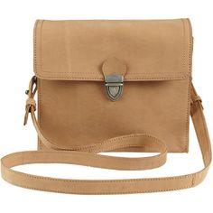 Vila Travelor Small Bag 1 (215 BRL) ❤ liked on Polyvore featuring bags, handbags, shoulder bags, purses, accessories, bolsas, cognac, leather shoulder bag, beige leather purse and cognac leather purse