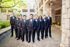 groomsmen, group portrait, wedding photography, wedding party, stylish guys, gentlemen, looking good, ATL photographer :: Mary Lee + Angelo's Wedding at Cherokee Town Country Club in Atlanta, Georgia:: with Nikki