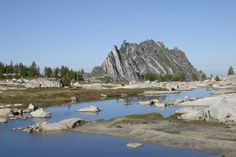 The Enchantments - Thru Hike Snow Lake to Colchuck Lake entrance.  Points of interest noted.