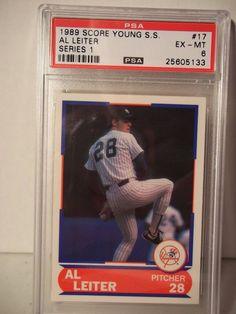 1989 Score Al Leiter PSA Ex-MT 6 Baseball Card #17 MLB Collectible #NewYorkYankees