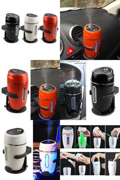 [Visit to Buy] 80ml Portable Mini Car Auto USB Humidifier Air Purifier Aroma Diffuser Atomizer purificador de ar carro #Advertisement