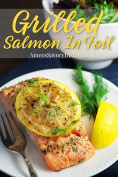 Grilled Salmon In Foil Packets is a simple healthy recipe that comes together and cooks in less than 20 minutes.#grilledsalmon #salmonrecipe #foilpacketsalmon #foilpacketmeals #salmon #seafoodrecipe via @Ameecooks