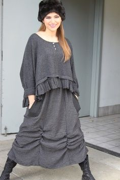Could adapt this idea to alter a top and skirt (LAGENLOOK FALL 2013 IMAGES | dresstokillclothes.com)