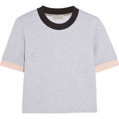 Balenciaga Cotton-jersey top (8 300 UAH) ❤ liked on Polyvore featuring tops, t-shirts, shirts, t shirts, balenciaga top, balenciaga t shirt, loose tops, loose fitting tops and loose fit t shirts