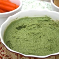 Kale Hummus Recipe- I just made this right now, and I'm LOVING it! Coulda used more kale, I didn't have white wine vinegar, just used regular white vinegar-didn't make a difference as far as I'm concerned.