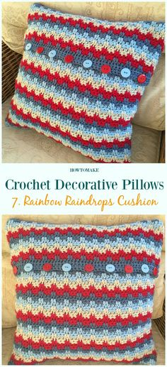 59 ideas for crochet pillow free cushion covers Crochet Cushion Pattern Free, Crochet Pillow Cases, Cushion Cover Pattern, Crochet Cushion Cover, Crochet Cushions, Afghan Crochet Patterns, Free Crochet, Cushion Covers, Tunisian Crochet